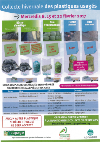 Affiche collecte des déchets agricoles